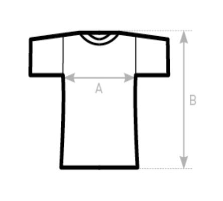 Tabuľka veľkostí mužských tričiek