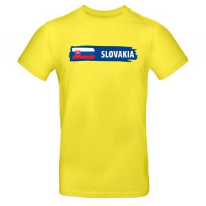 Mužské tričko - Slovakia s vlajkou