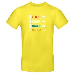 Mužské tričko - Eat Sleep Game Repeat