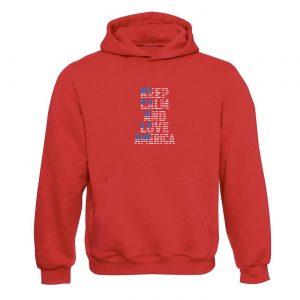 Unisex mikina - Keep calm and love America