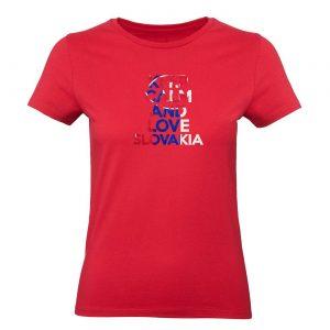 Ženské tričko - Keep calm and love slovakia