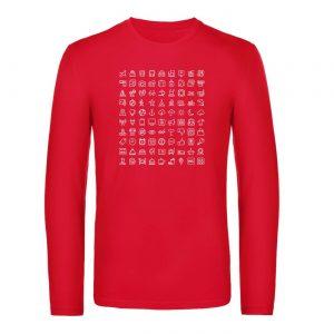 Mužské tričko s dlhým rukávom - Cestovateľské značky