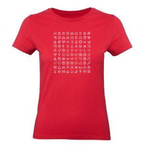 Ženské tričko - Cestovateľské značky