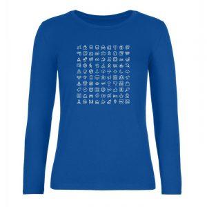 Ženské tričko s dlhým rukávom - Cestovateľské značky