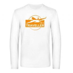 Mužské tričko s dlhým rukávom - I am a Traveller