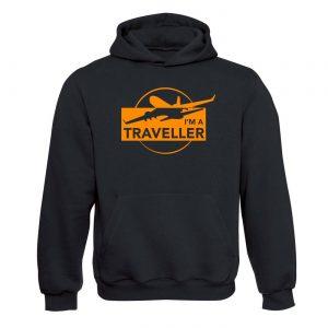Unisex mikina - I am a Traveller