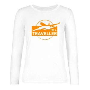 Ženské tričko s dlhým rukávom - I am a Traveller