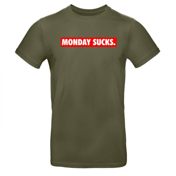 Mužské tričko - Monday sucks