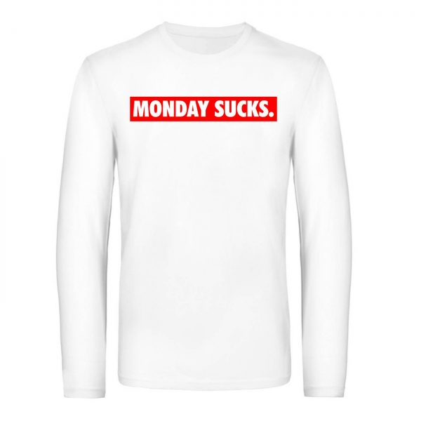monday_sucks_muzske_tricko_s_dlhym_rukavom_biele