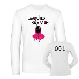 Mužské tričko s dlhým rukávom - Squid Game