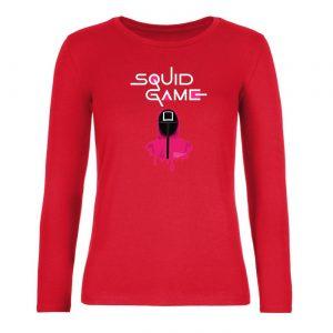 Ženské tričko s dlhým rukávom - Squid Game